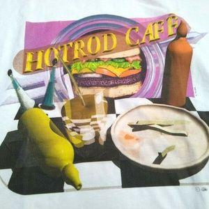 HotRod Cafe White T-Shirt Hamburger Ketchup XL